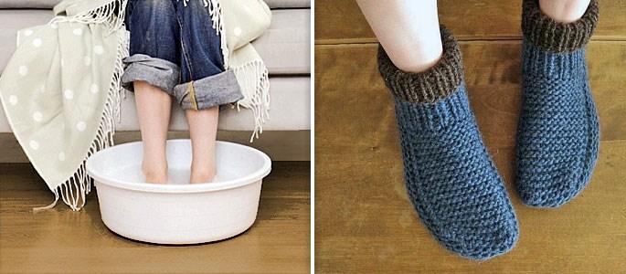 можно ли при температуре парить ноги