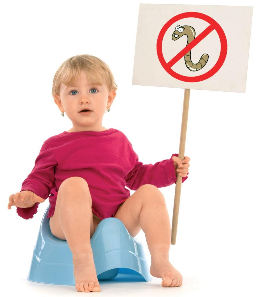Выведение глистов у детей