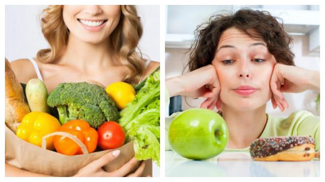 женщины с овощами и фруктами