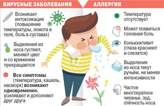 отличие аллергии и ОРЗ