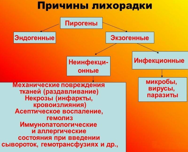 Причины лихорадки
