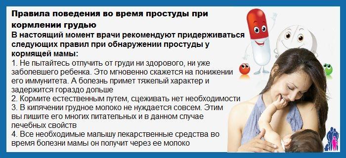простуда при кормлении грудью
