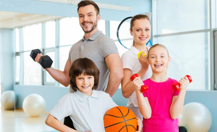 семейство спортивно ориентированных граждан