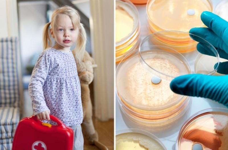 Девочка с аптечкой и лабораторные исследования
