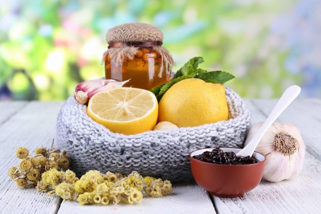 лимоны мед варенье чеснок и всякие травы