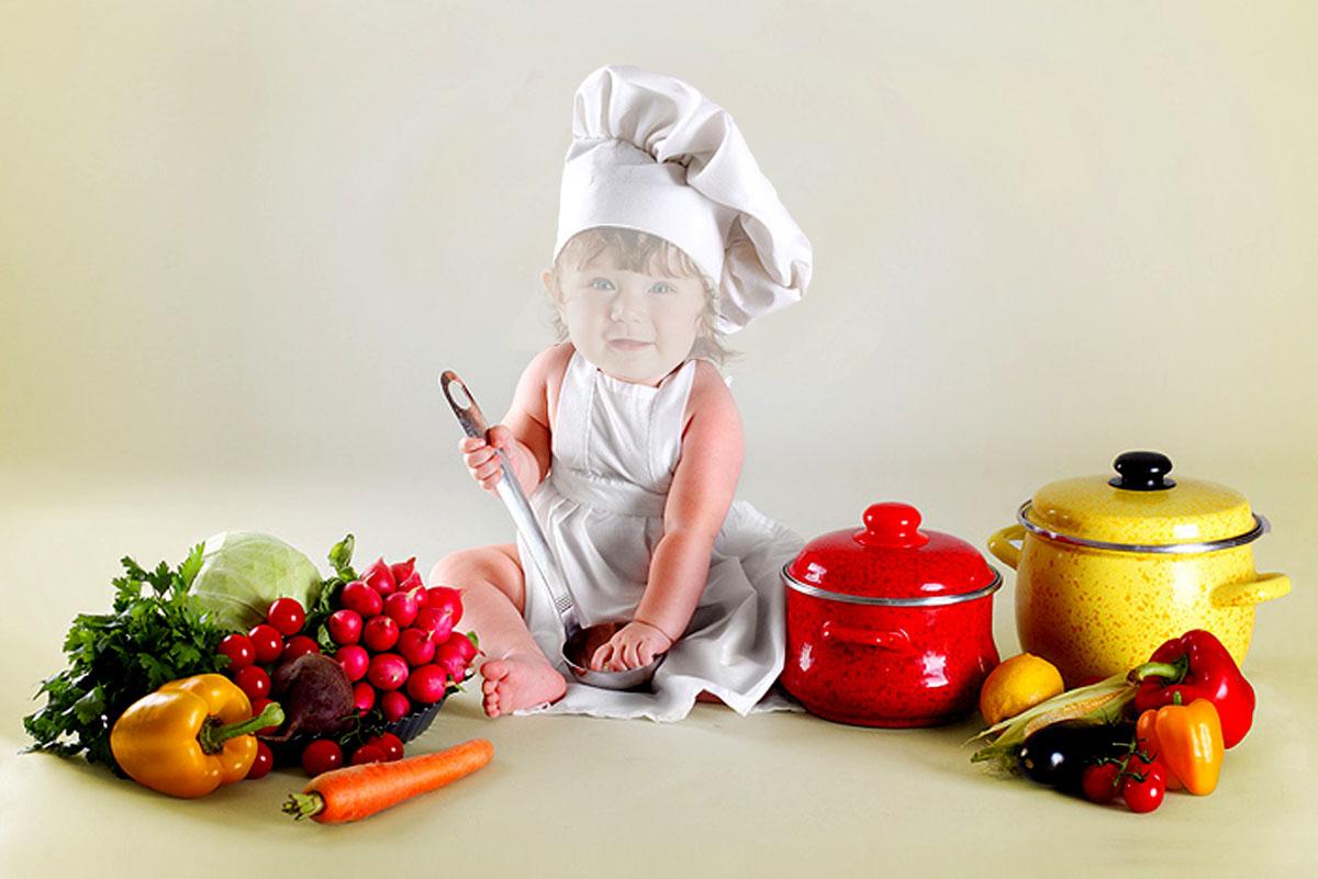 Овощи, ребенок